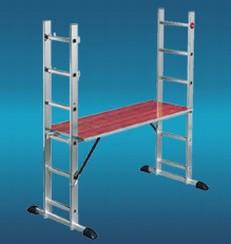 aluminium ger st leiter 3 teilig masterstep. Black Bedroom Furniture Sets. Home Design Ideas