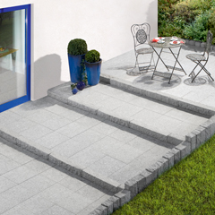 Granit-Terrassenplatte Hellgrau