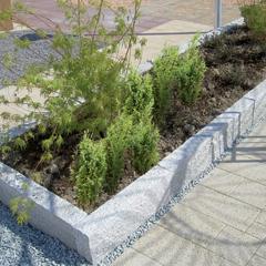 Granit-Rasenbord Hellgrau