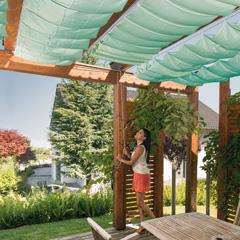 Windhager Maßgefertigte Sonnensegel für Seilspanntechnik