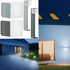 """STEINEL LED-Sensor-Außenleuchte """"L 830"""" und """"GL 80"""" Cubo"""