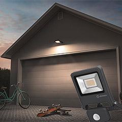 """Ledvance LED-Außenwandstrahler """"Flood"""" mit Sensor"""
