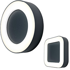 "Ledvance LED-Außenwand- oder Deckenleuchte ""Endura Style Ring & Square"""